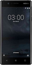 Nokia 3 Dual Sim zwart voorkant