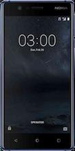 Nokia 3 Dual Sim blauw voorkant