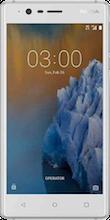 Nokia 3 Dual Sim zilver voorkant