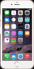 Voorkant iphone 6 gold