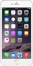 Iphone 6 plus zilver voorkant