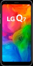 Voorkant lg q7 zwart