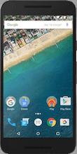Nexus 5X zwart voorkant vergelijken