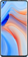 Voorkant oppo reno 4 pro dual sim blauw