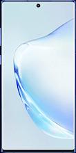Voorkant samsung note 10 plus dual sim blauw