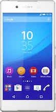 Voorkant sony xperia z3 plus wit