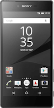 Voorkant sony xperia z5 premium black