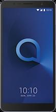 Voorkant alcatel 3c dual sim blauw