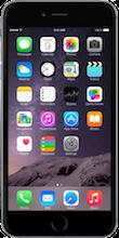 Voorkant iphone 6 plus space gray