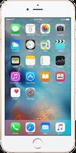 Voorkant iphone 6s gold