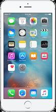 Voorkant iphone 6s zilver