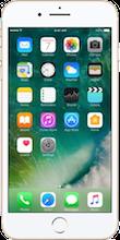 Voorkant iphone 7 plus silver