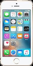 Voorkant iphone se gold