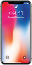 Voorkant apple iphone x space gray