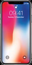 Voorkant iphone x zwart