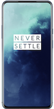 Voorkant oneplus 7t pro dual sim blauw