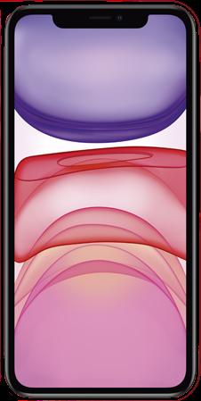 Voorkant apple iphone 11 refurbished rood