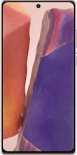 Voorkant samsung galaxy note 20 dual sim brons