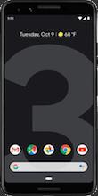 Voorkant google pixel 3 black
