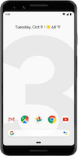 Voorkant google pixel 3 white