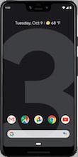 Voorkant google pixel 3 xl black