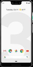 Voorkant google pixel 3 xl white