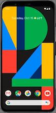 Voorkant google pixel 4 zwart