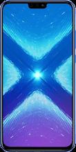 Voorkant honor 8x dual sim blauw