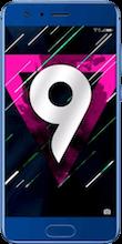Honor 9 blue voorkant