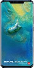 Voorkant huawei mate 20 pro dual sim blauw