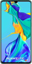Voorkant huawei p30 dual sim blauw