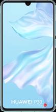 Voorkant huawei p30 dual sim crystal blue