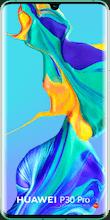 Voorkant huawei p30 pro dual sim blauw