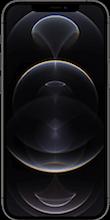 Voorkant apple iphone 12 pro max zwart