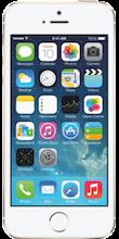 Voorkant iPhone 5s goud