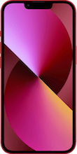 Voorkant apple iPhone 13 mini rood