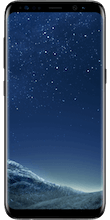 Voorkant black Galaxy s8