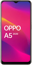 Voorkant OPPO A5 2020 dual sim wit