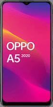 Voorkant OPPO a5 2020 dual sim zwart