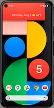 Voorkant google pixel 5 dual sim zwart