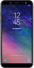 Voorkant galaxy a6 paars