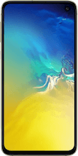 Voorkant samsung galaxy s10e yellow