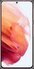 Voorkant samsung galaxy s21 dual sim roze