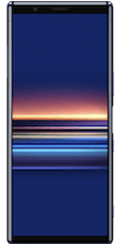 Voorkant sony xperia 5 dual sim blauw