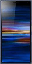 Voorkant sony xperia 10 blauw