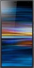 Voorkant sony xperia 10 plus zwart