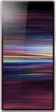 Voorkant sony xperia 10 roze