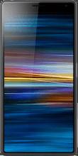 Voorkant sony xperia 10 zwart