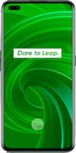 Voorkant realme x50 pro dual sim groen