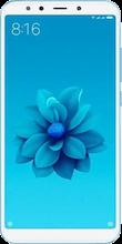Voorkant xiaomi mi a2 blauw